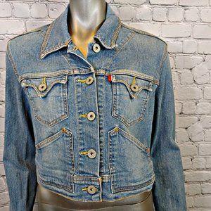 Levi's Denim Cropped Jean Jacket Size XL